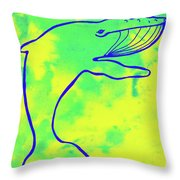 Happier Humpback 1 Throw Pillow