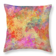 Happiness Abstract Painting Throw Pillow
