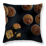 Happiness Is Only A Cupcake Away Throw Pillow