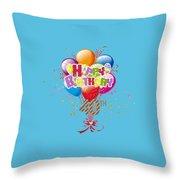 Happy 40th Birthday Throw Pillow