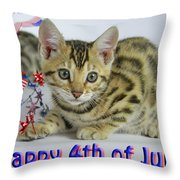 Happy 4th Of July Throw Pillow