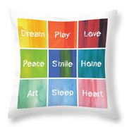 Happy 9 In 1 Throw Pillow