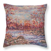 Happy Autumn Days. Throw Pillow