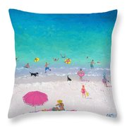 Happy Beach Days Throw Pillow