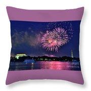 Happy Birthday America # 2 Throw Pillow