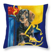 Happy Birthday Throw Pillow by Barbara Keith
