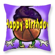 Happy Birthday Basketball Wiz Throw Pillow