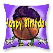Happy Birthday Basketball Wiz Throw Pillow
