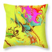 Happy Birthday Lilac Breasted Roller Abstract Throw Pillow