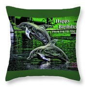 Happy Birthday Pisces Throw Pillow by Beauty For God