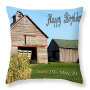 Happy Birthday Taurus Throw Pillow