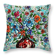 Happy Bouquet Throw Pillow