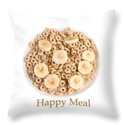 Happy Breakfast Fine Art Poster Throw Pillow