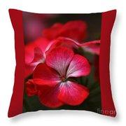 Happy Bright Geranium And Design Throw Pillow