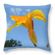 Happy Canna Throw Pillow