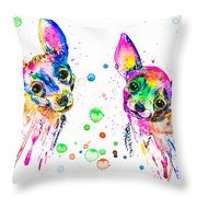 Happy Chihuahuas Throw Pillow