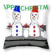 Happy Christmas 116 Throw Pillow