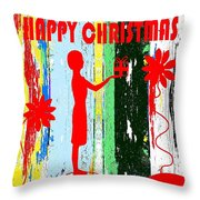 Happy Christmas 14 Throw Pillow