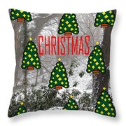 Happy Christmas 22 Throw Pillow