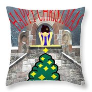 Happy Christmas 31 Throw Pillow