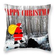 Happy Christmas 60 Throw Pillow