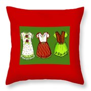 Happy Christmas Dresses Throw Pillow