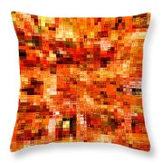 Happy Colors Abstract Throw Pillow by Carol Groenen