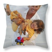 Happy Contest 5 Throw Pillow