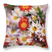 Happy Crowd Throw Pillow