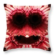 Happy Daisies Are Here Again Throw Pillow