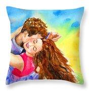 Happy Dance Throw Pillow