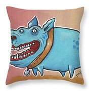 Happy Dawg Throw Pillow