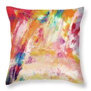 Happy Day- Abstract Art By Linda Woods Throw Pillow