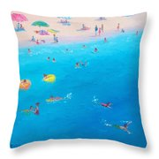 Happy Days At The Seaside Throw Pillow