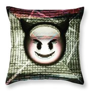 Happy Devil Throw Pillow