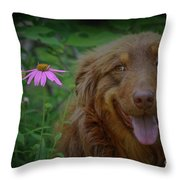 Happy Dog Days Throw Pillow