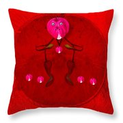 Happy Dog Loves Bleeding Hearts Throw Pillow