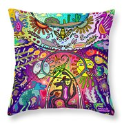 Happy Dogs Throw Pillow
