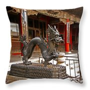 Happy Dragon Throw Pillow