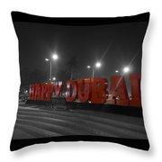 Happy Dubai Throw Pillow