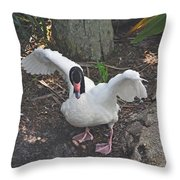 Happy Duck Throw Pillow