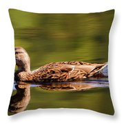 Happy Duck Throw Pillow