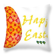 Happy Easter Abstract Greeting Card Art By Omaste Witkowski  Throw Pillow