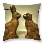 Happy Easter Card Throw Pillow