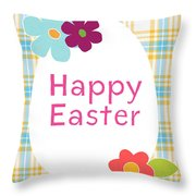 Happy Easter Egg- Art By Linda Woods Throw Pillow