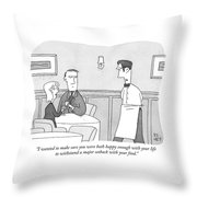 Happy Enough Throw Pillow