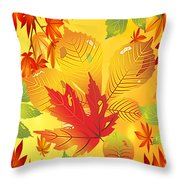 Happy Fall-jp2760 Throw Pillow