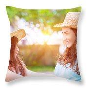 Happy Family Life Throw Pillow