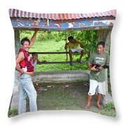 Happy Filipinos Throw Pillow