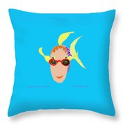 Happy Fish On Vacation Throw Pillow